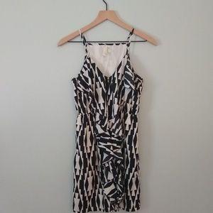 Black and White Geometric Aztec Mini Dress